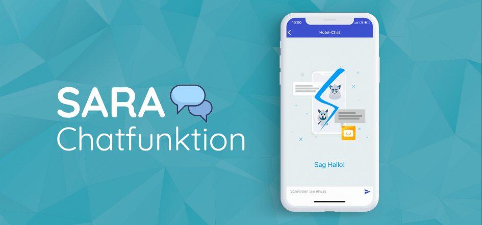 Darstellung SARA am Smartphone mit Chatfunktion für Vermieter und Gäste